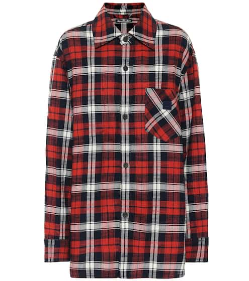 아크네 스튜디오 Acne Studios Checked cotton-flannel shirt