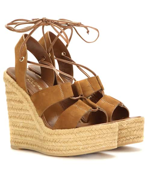 7d9e560e907 Saint Laurent Espadrille 95 Suede Wedge Sandals from mytheresa - Styhunt