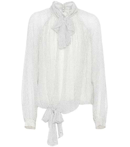 Burberry Bluse aus Seidenkrepon