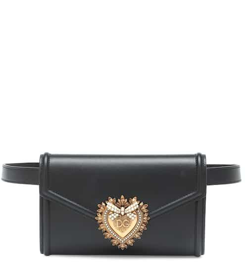 돌체 & 가바나 디보션 벨트백 블랙 Dolce & Gabbana Devotion leather belt bag