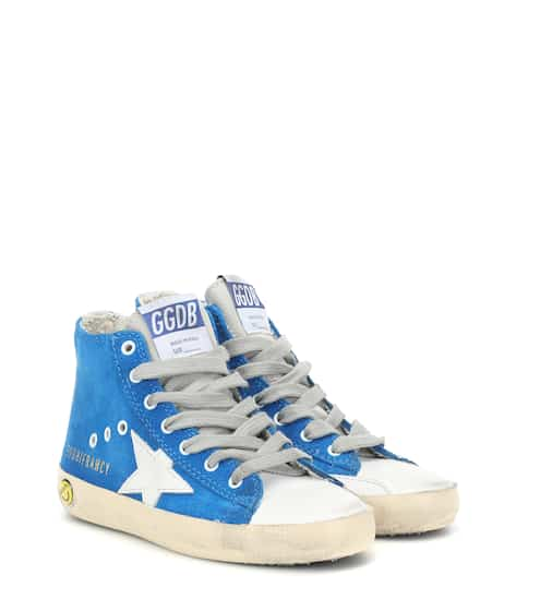 골든구스 Golden Goose Kids Francy high-top suede sneakers