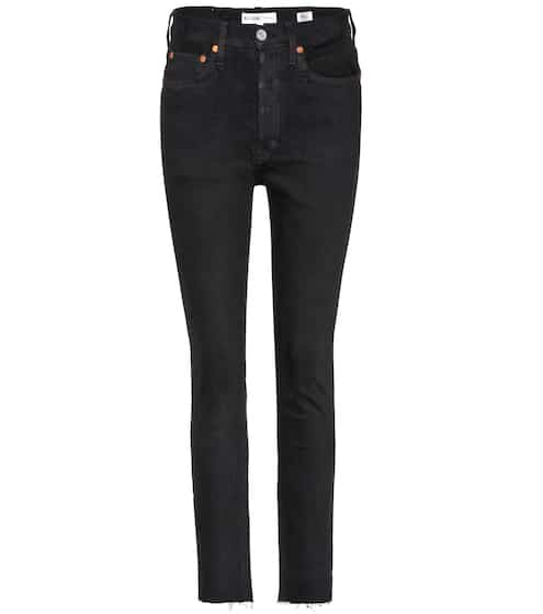 Re/Done High Rise Skinny Jeans in Cropped-Länge