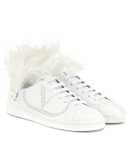 d2f5665841a Valentino Garavani BACKNET leather sneakers | Valentino