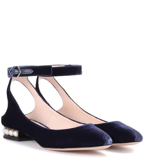 Nicholas Kirkwood Exklusiv bei mytheresa.com – Samt-Ballerinas Lola Pearl