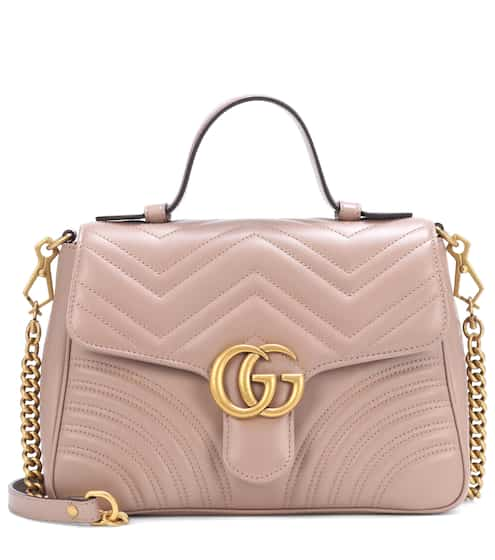 Gg Marmont Small Leather Shoulder Bag Gucci