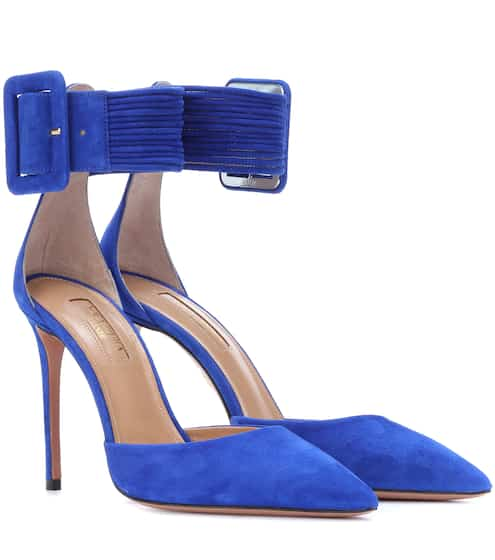 Aquazzura Pumps Casablanca 85 aus Veloursleder