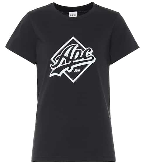 아페쎄 엘시아 로고 티셔츠 - 다크 네이비 A.P.C. Althea cotton T-shirt