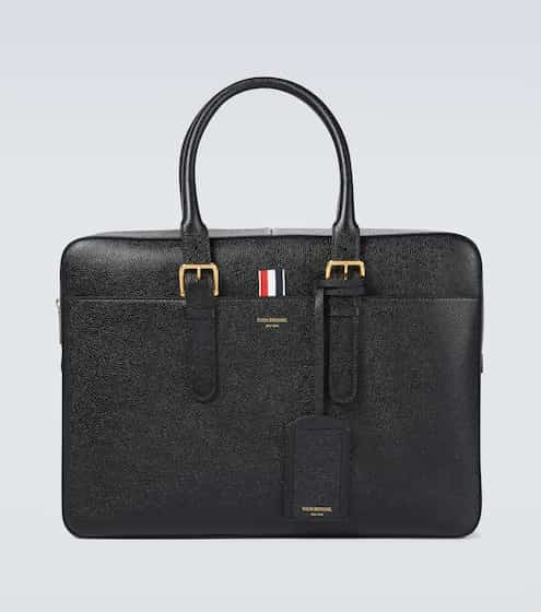 톰 브라운 그레인 가죽 서류가방 Thom Browne Grained leather briefcase