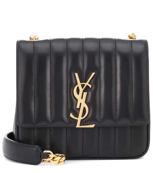 18 PRE F/W 생 로랑 비키백 미디움 블랙 Saint Laurent Vicky Medium leather shoulder bag