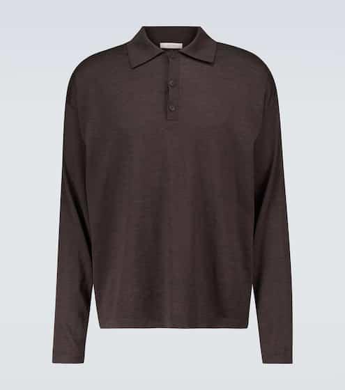 더 로우 맨 울 폴로 스웨터The Row Djon wool polo sweater