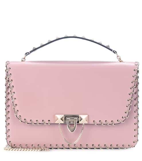 발렌티노 Valentino Garavani Demilune Small leather shoulder bag