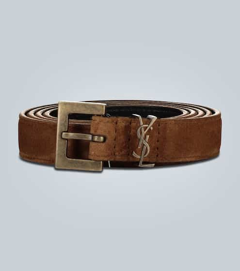 생 로랑 Saint Laurent Slim suede belt