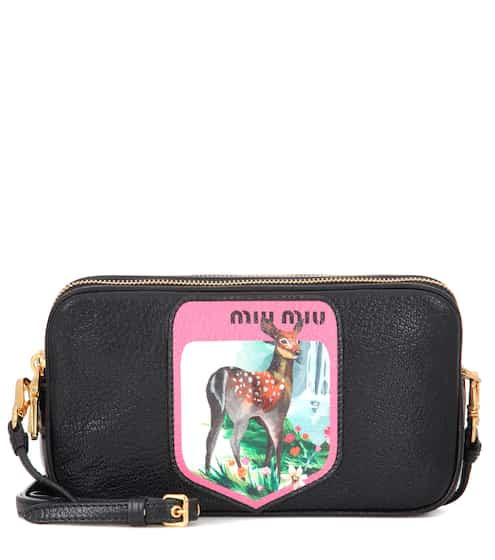Miu Miu Printed Leather Shoulder Bag from mytheresa - Styhunt f94f0a283a91b