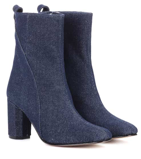 Ganni Ankle Boots Joan aus Denim