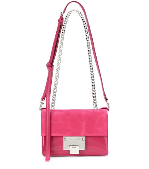 Jimmy Choo Schultertasche Rebel Soft Mini aus Veloursleder
