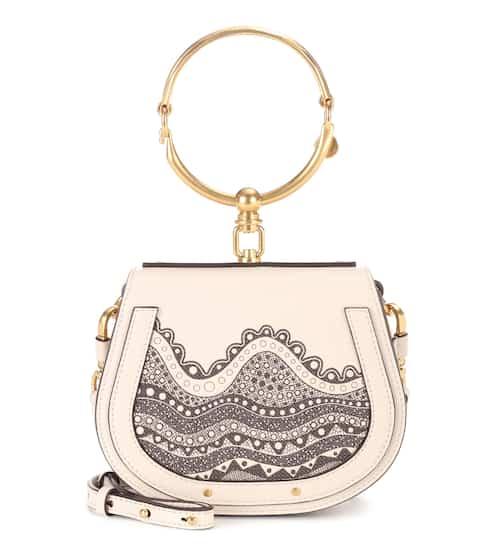 끌로에 나일백 스몰 - 앱스트랙트 화이트 Chloe Exclusive to Mytheresa.com – Small Nile leather crossbody bag, Abstract White