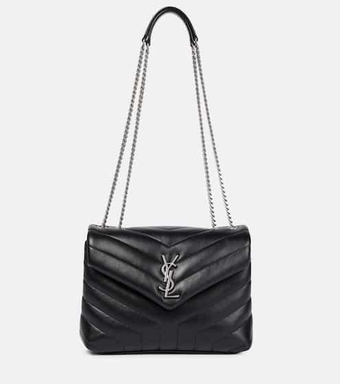생 로랑 루루백 스몰 - 블랙 은장 Saint Laurent Loulou Small leather shoulder bag, Nero