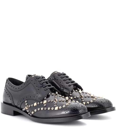 Dolce & Gabbana Verzierte Derbys aus Leder