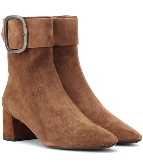 b5c9f66a Saint Laurent Joplin 50 Suede Ankle Boots from mytheresa - Styhunt