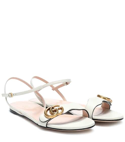 1b7b300769d2 Double G leather sandals