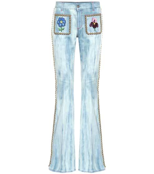 Gucci Verzierte Flared Jeans