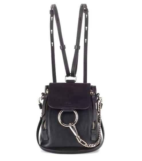 클로에 Chloe Faye Mini leather and suede backpack
