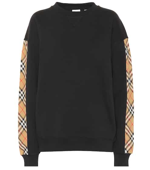 19b0f3e42357 Vintage Check cotton-blend sweatshirt | Burberry