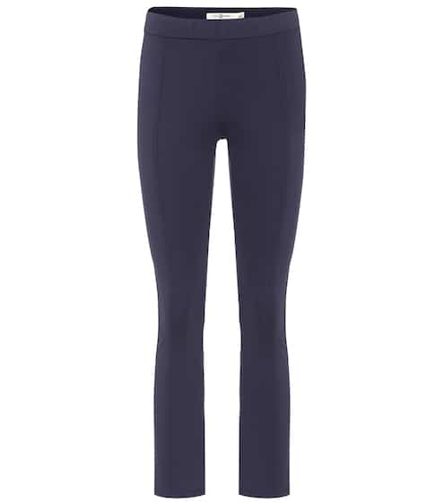 Tory Sport Cropped-Hose mit Stretch-Anteil