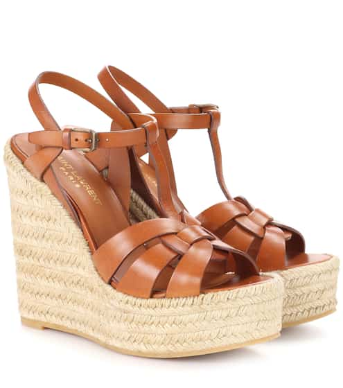 5c8cafec4388 Espadrille wedge leather sandals