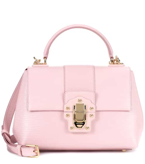 Exclusive to mytheresa.com - Lucia embossed leather shoulder bag Dolce & Gabbana