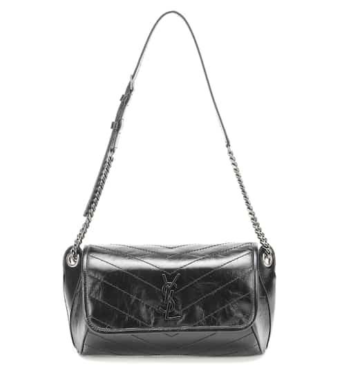 생 로랑 벨트백 Saint Laurent Niki crinkled-leather belt bag