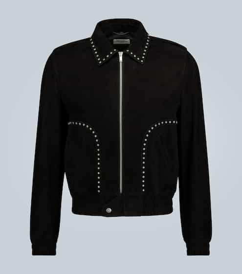 생 로랑 Saint Laurent Suede studded jacket