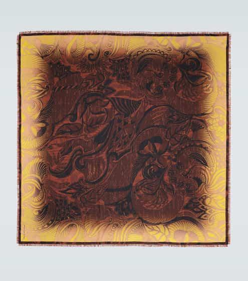 드리스 반 노튼 플로럴 프린트 실크 스카프 Dries Van Noten Floral printed silk scarf