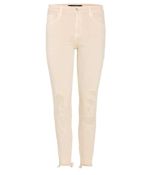 J Brand Cropped Jeans in Distressed-Optik
