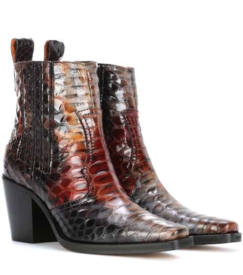 Ganni Ankle Boots Maryse aus Leder