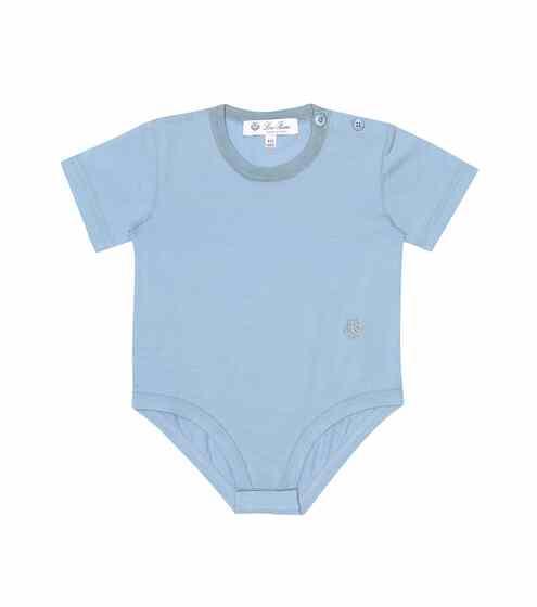 로로피아나 베이비 아기옷 우주복 Loro Piana Kids Baby Light Rib 20 stretch-cotton onesie