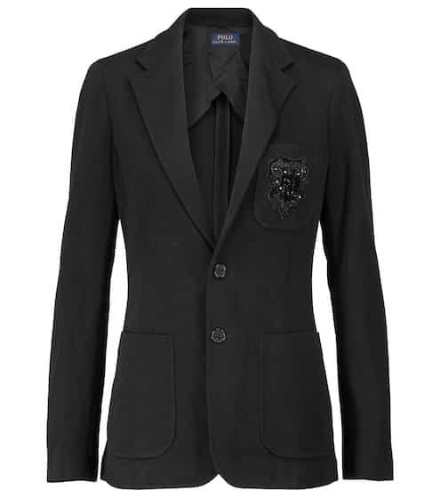 폴로 랄프로렌 셋업 자켓 Polo Ralph Lauren Embellished cotton-blend blazer