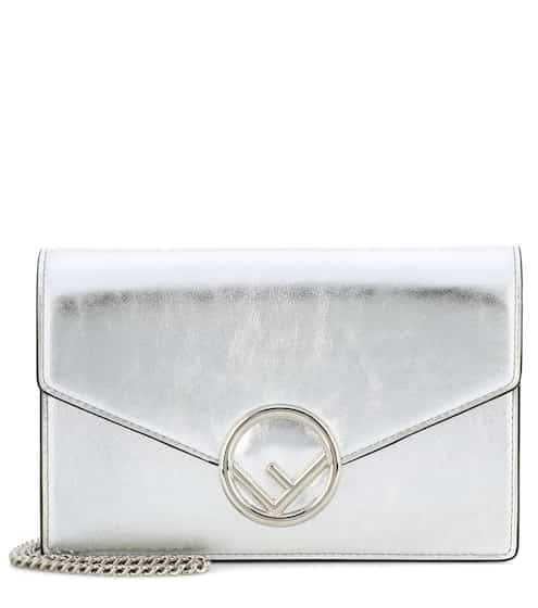 Fendi Schultertasche Wallet on Chain aus Leder