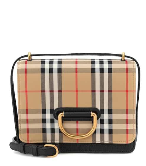 버버리 스몰 D-링 크로스바디백 (크리스탈 착용) Burberry Small Vintage Check crossbody bag