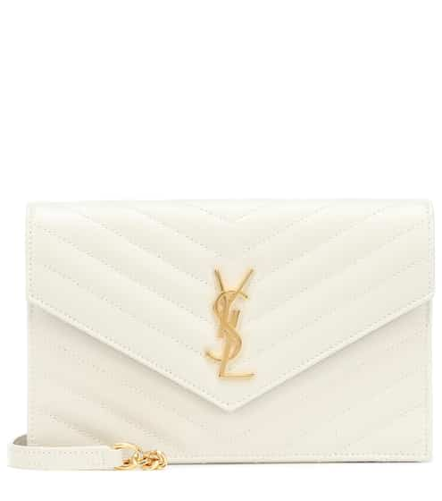 21FW 생 로랑 엔벨로프백 스몰 - 크레마 소프트 Saint Laurent Envelope Small leather shoulder bag