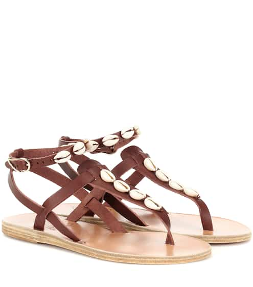 Estia Leather D2w9iehye Embellished Ancient From Greek Sandals vmOwN80n