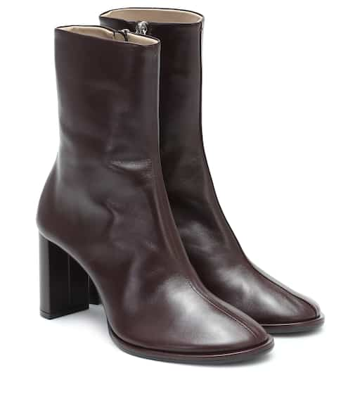 The Row Teatime leather ankle boots