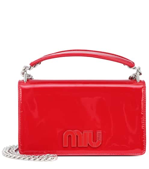 Miu Miu Patent Leather Shoulder Bag from mytheresa - Styhunt a24aff86203df