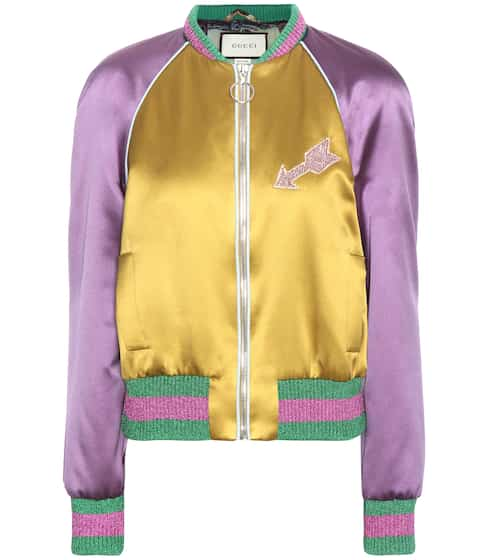 Gucci Verzierte Bomberjacke aus Seide