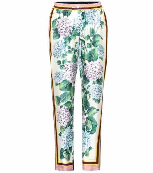 Dolce & Gabbana Seidenhose mit Print