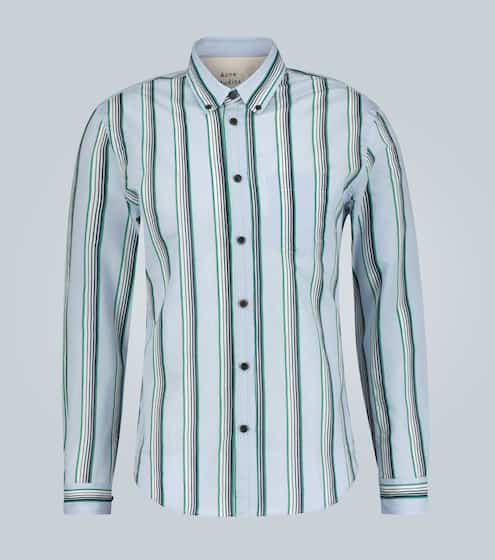 아크네 스튜디오 셔츠 Acne Studios Sarkis striped long-sleeved shirt