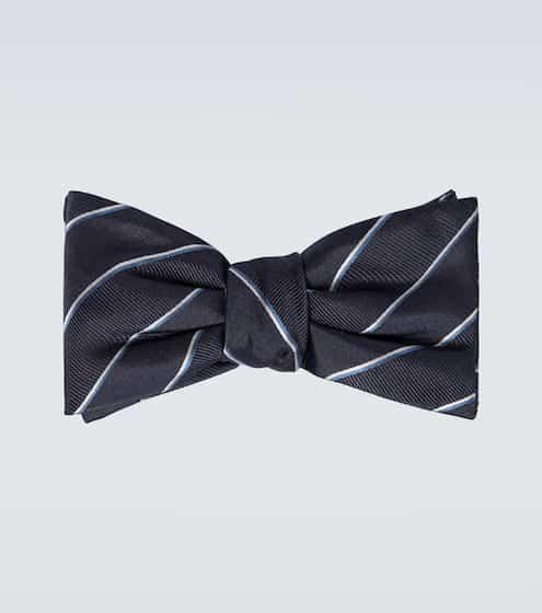 알렉산더 맥퀸 Alexander McQueen Striped silk bowtie