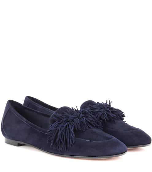 Aquazzura Loafers Wild aus Veloursleder