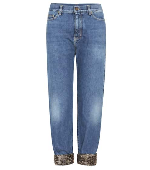 Saint Laurent Verzierte Jeans