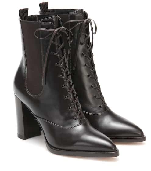 지안비토 로시 Gianvito Rossi Dresda leather ankle boots